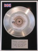 "DAVID SOUL - 7""Platinum Disc-DON'T GIVE UP ON US"